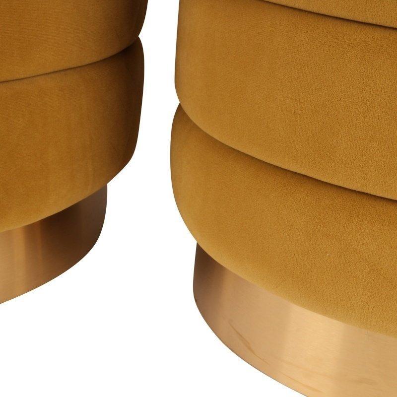 Dutch & Style Set Poefen Monroe  Gold
