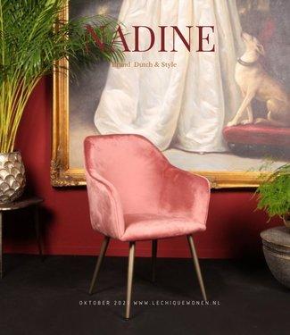 Dutch & Style Chaise de salle à manger or ciel noir