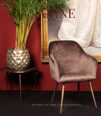 Dutch & Style Chaise de salle à manger or ciel