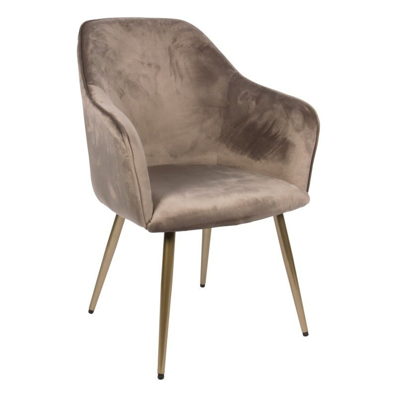 Dutch & Style Chair Nadine Red Gray