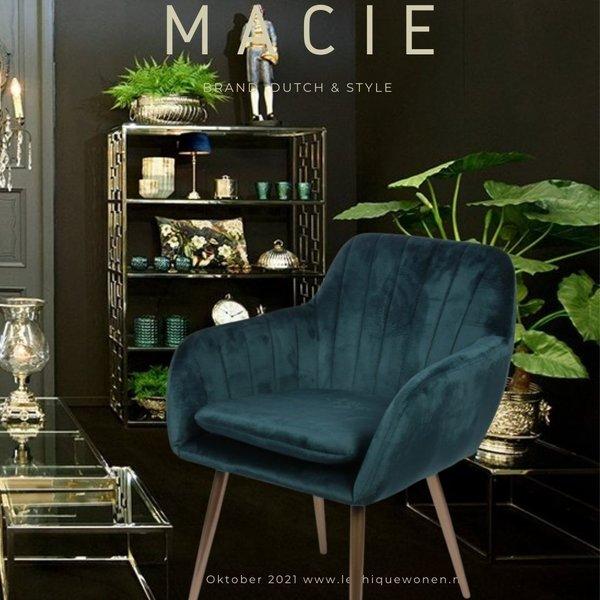 Dutch & Style Stoel Macie    Bleue