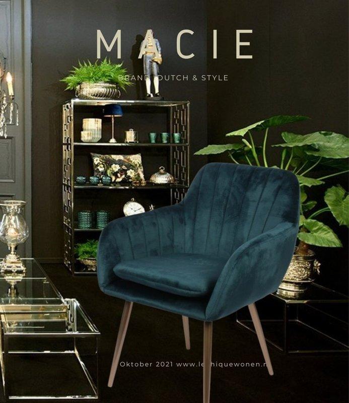 Dutch & Style Stoel Macie Blue