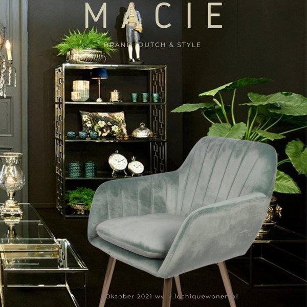 Dutch & Style Chaise Macie Blue Green