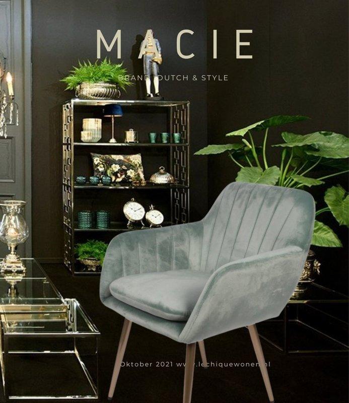 Dutch & Style Stoel Macie Blue Green