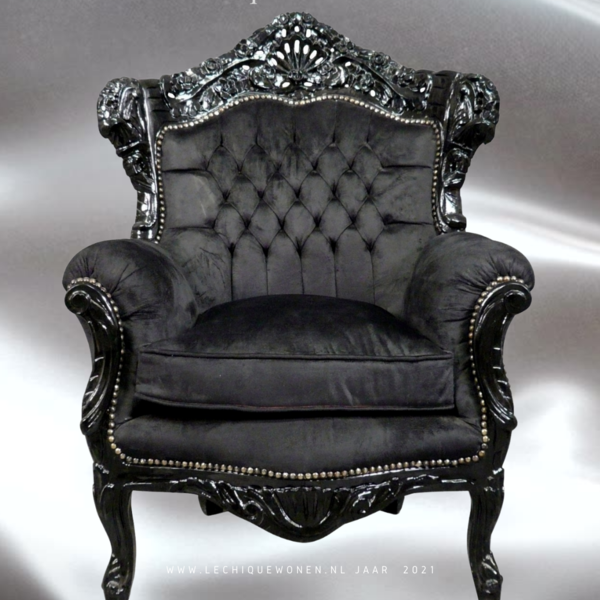 LC Baroque Milano  velvet exclusive armchair