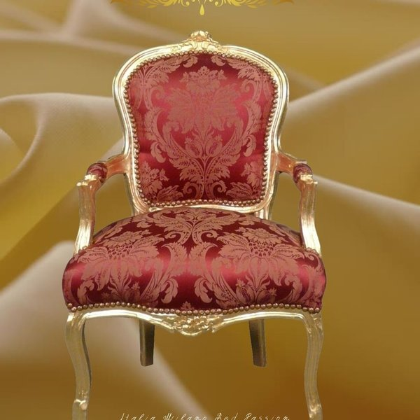 LC Baroque ladies chair passion gold wine red
