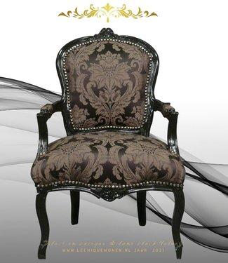 LC Chaise baroque dames noir
