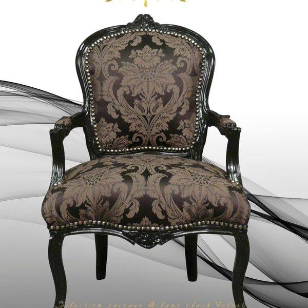 LC Barok dames stoel zwart