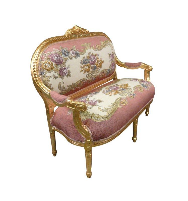 LC Le Antoinette  Sofa  Gold flower