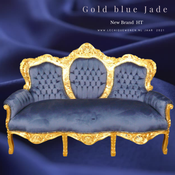 LC Barok bank gold blue jade