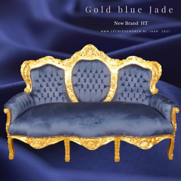 LC Baroque sofa gold blue jade