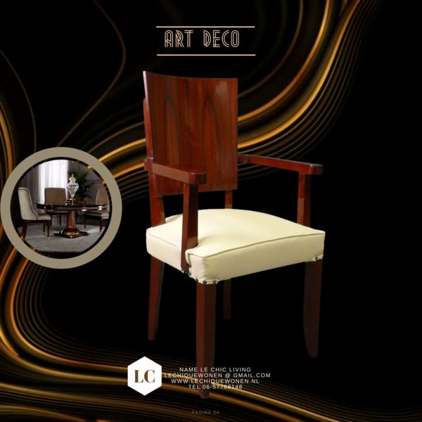 Art Deco dining room seats
