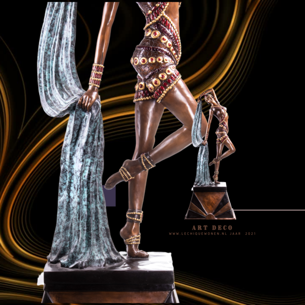 Decotrends  Art Deco bronze figure dance    afm ca. 210 x 85 x 55 cm
