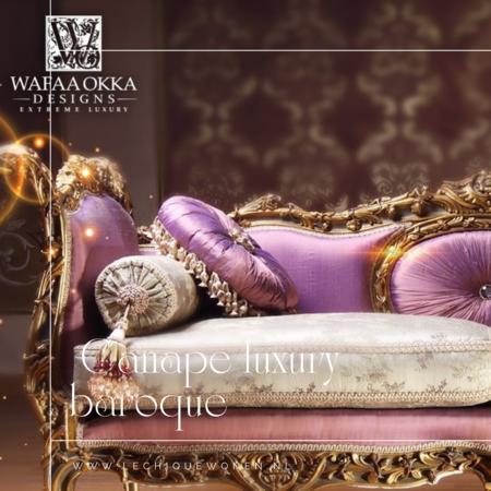 Wafaa Okka  Barok bank goud paars