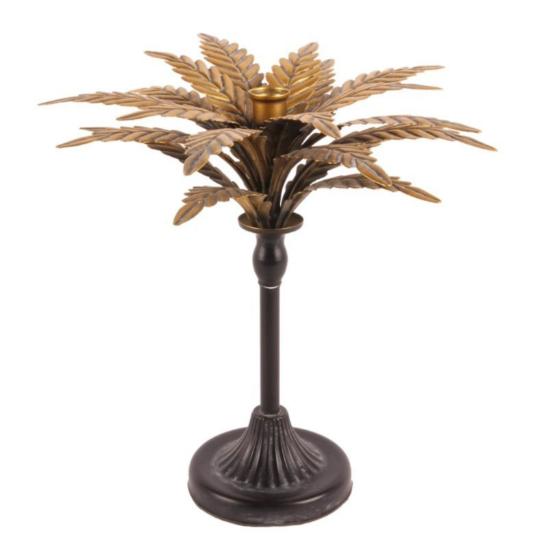 Dutch & Style Kandelaar 33 cm Palmboom