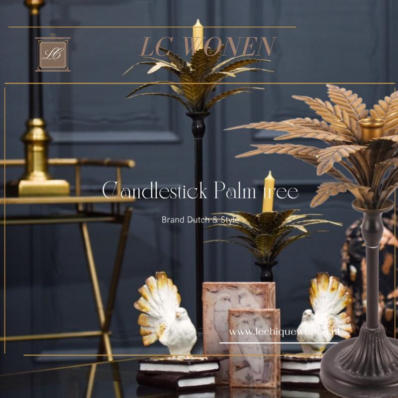 Dutch & Style Candlestick 33 cm Palm tree
