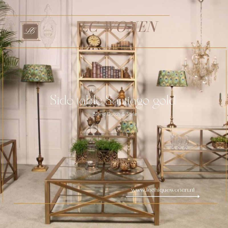 Dutch & Style Bijzettafel Santiago goud