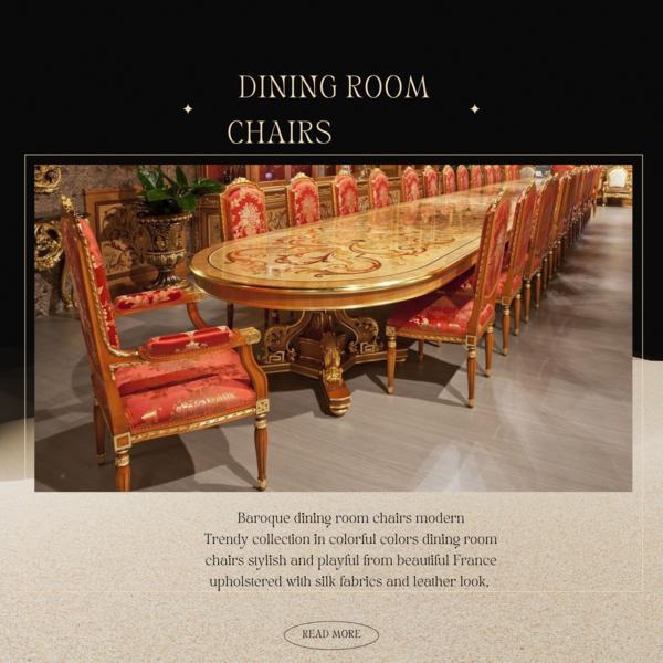 Baroque dining room seats