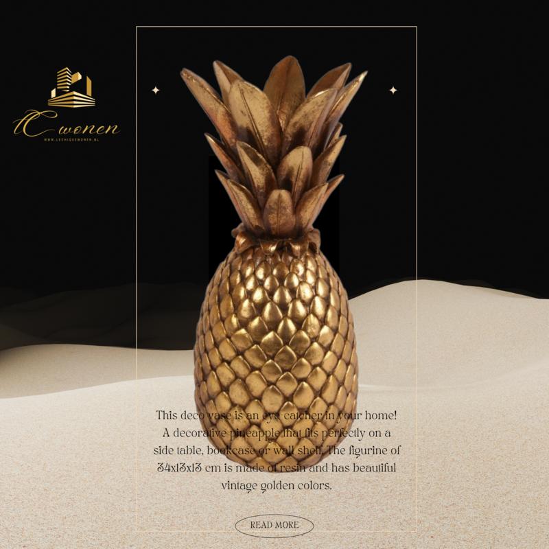 Dutch & Style Ananas deco/vaas 34 cm