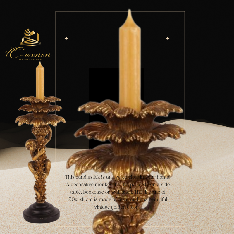 Dutch & Style Kandelaar aap 30 cm