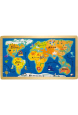 Small Foot Wereldkaart puzzel