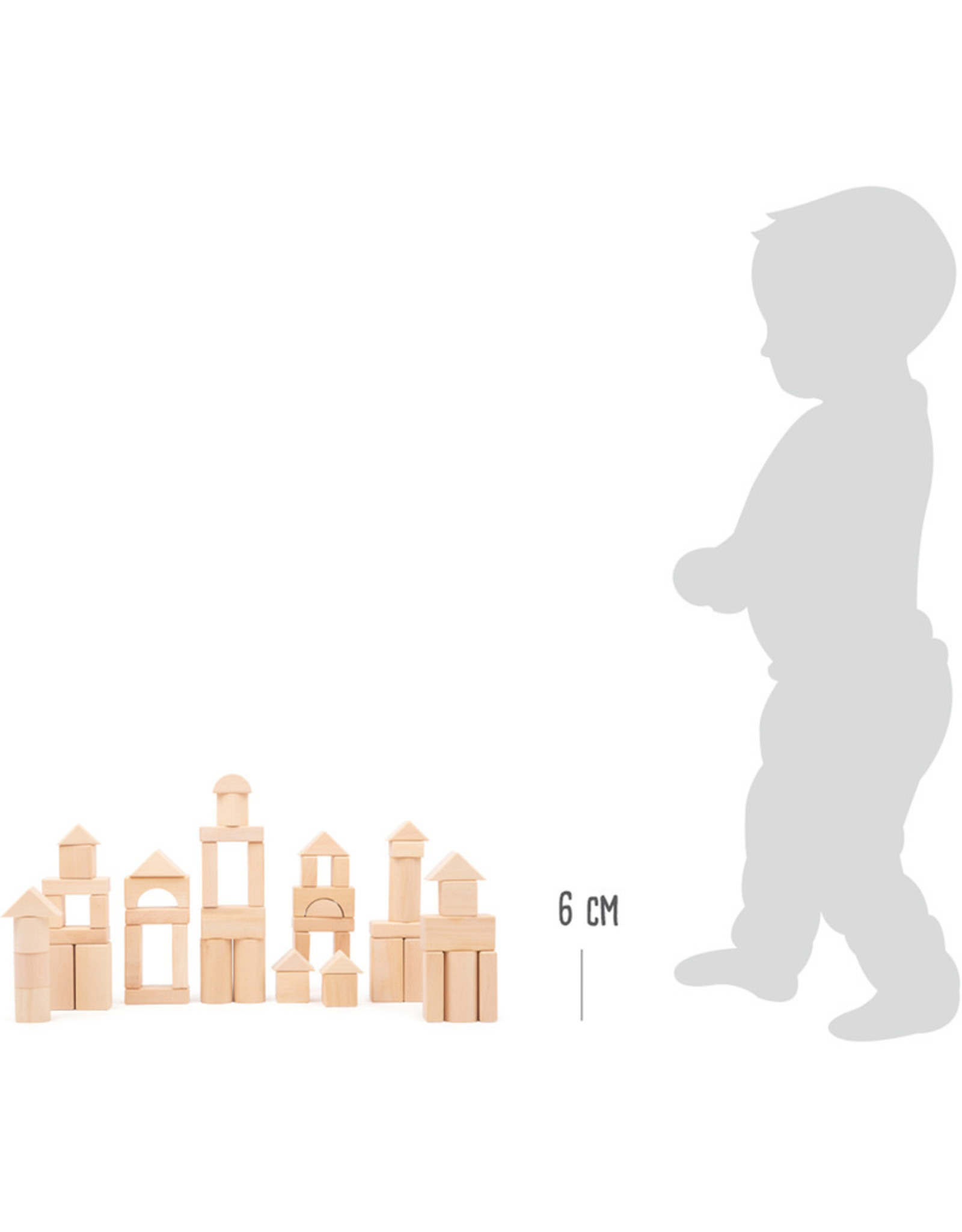 Small Foot Houten bouwblokken 50 stuks