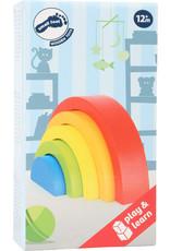 Small Foot Houten bouwblokken regenboog