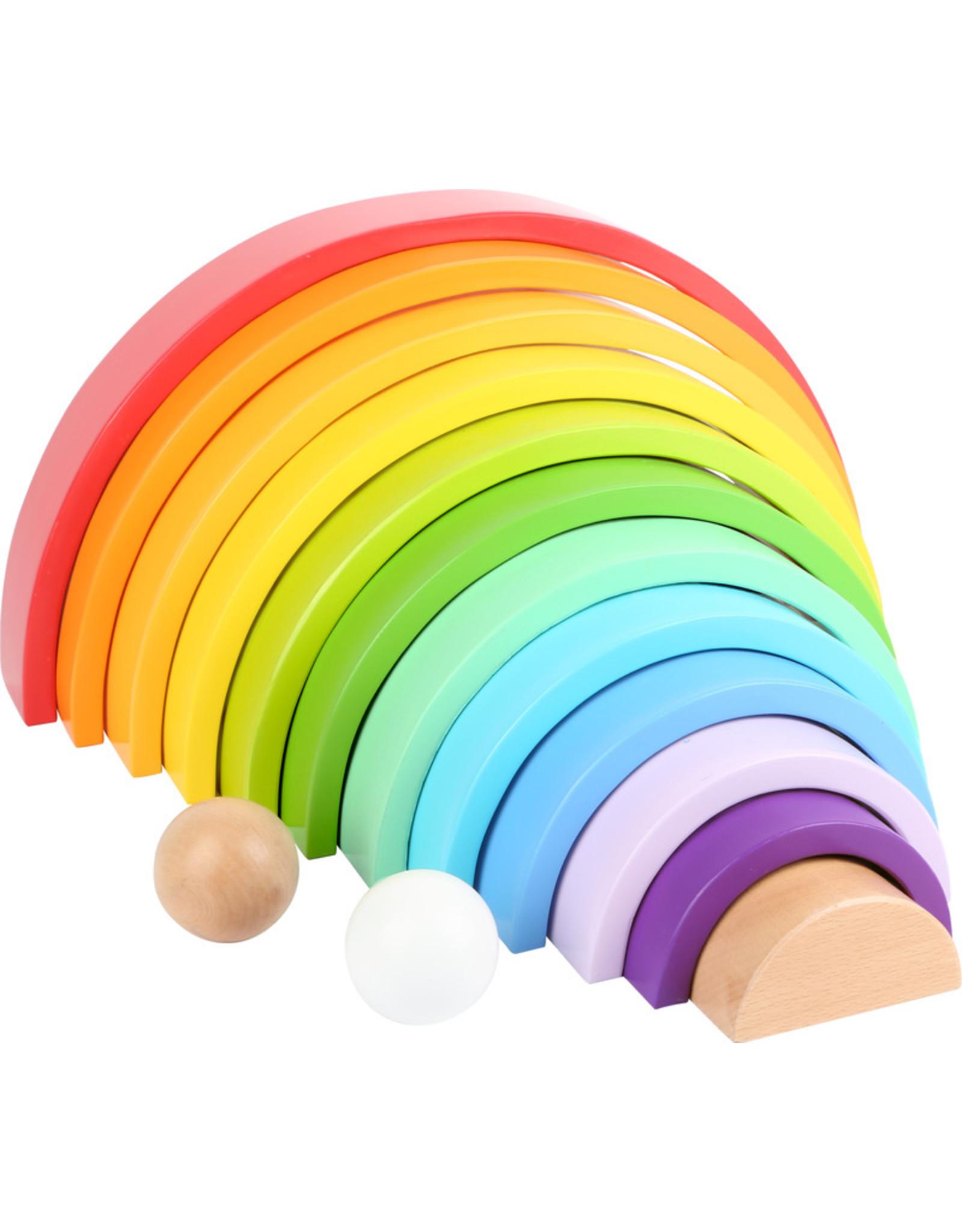 Small Foot Houten bouwblokken regenboog XL
