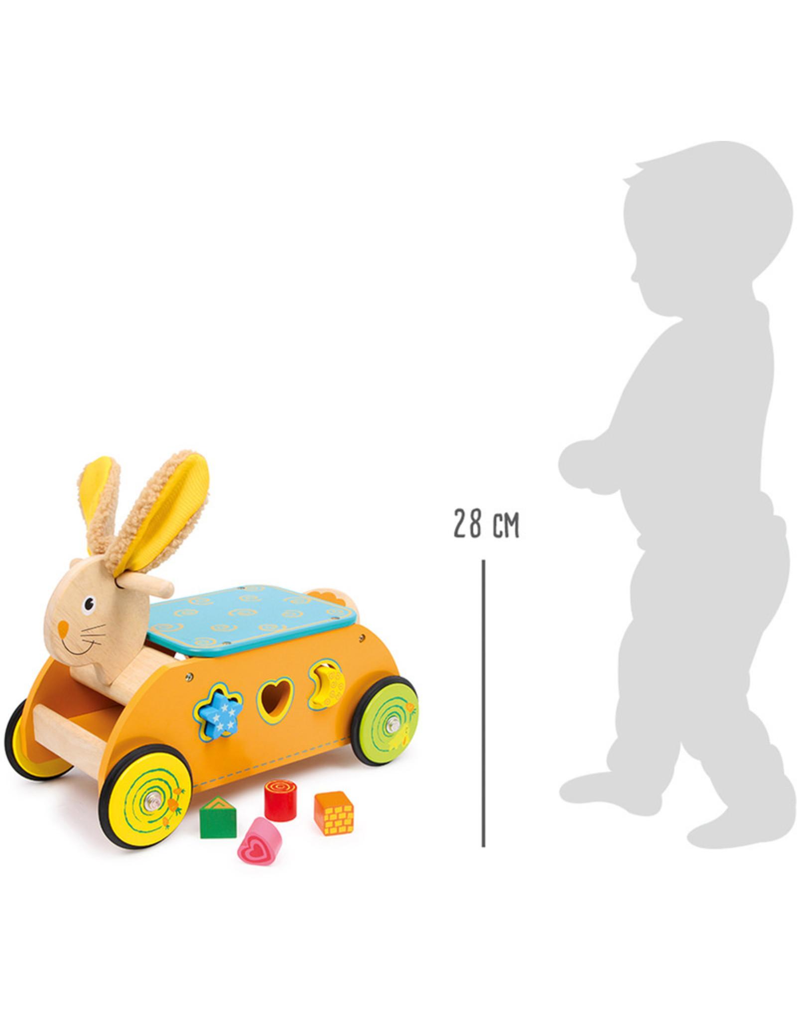 Small Foot Konijn loopwagen met spelletjes