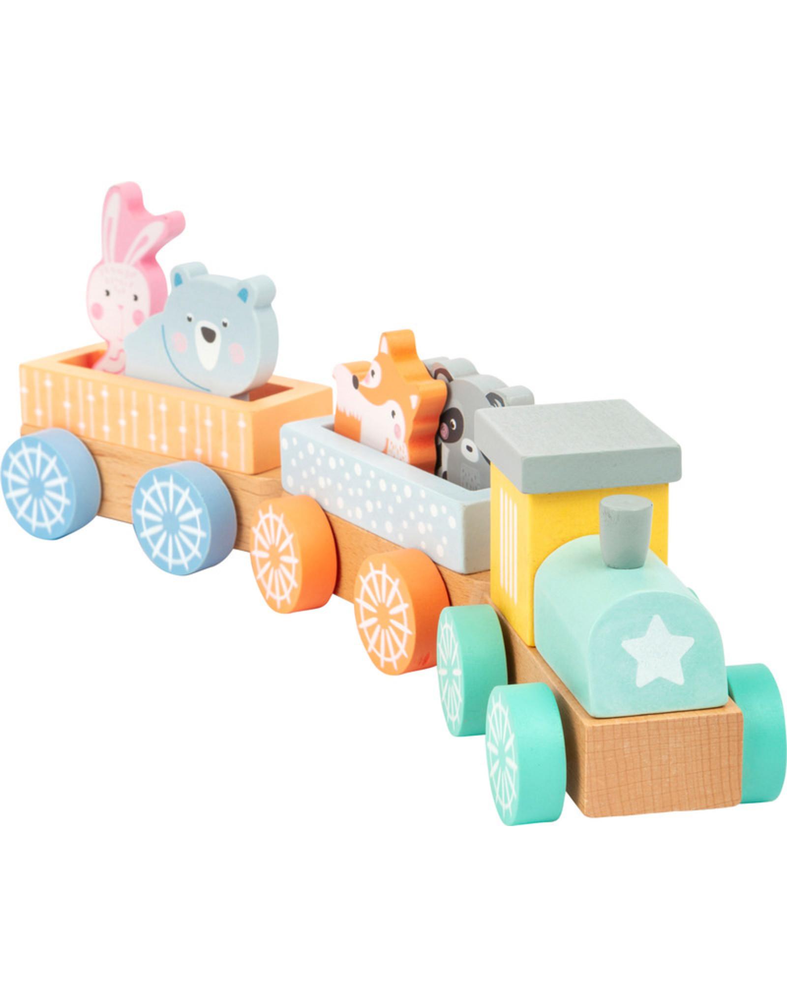 Small Foot Houten trein in pastel kleuren