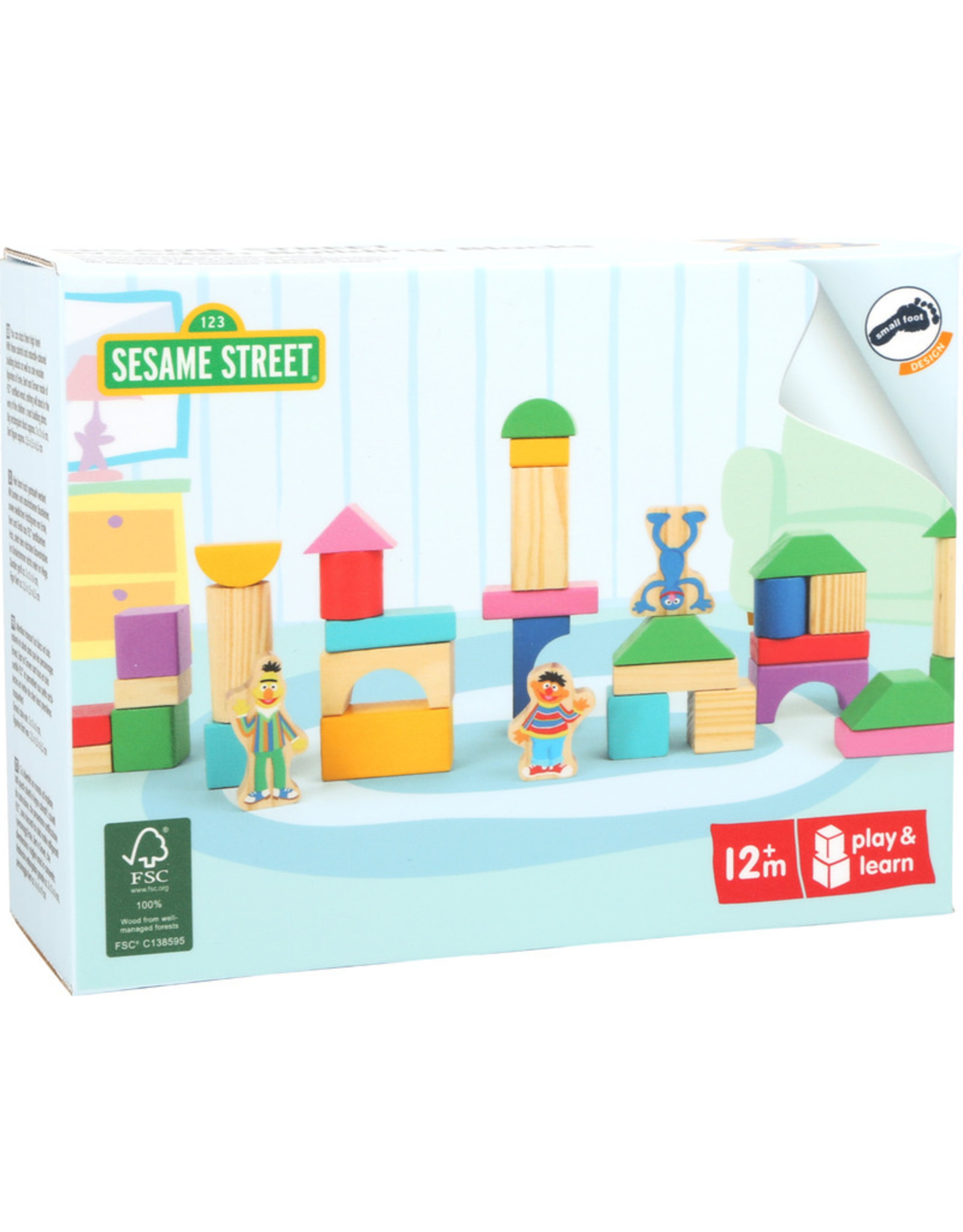 Small Foot Sesamstraat bouwblokken