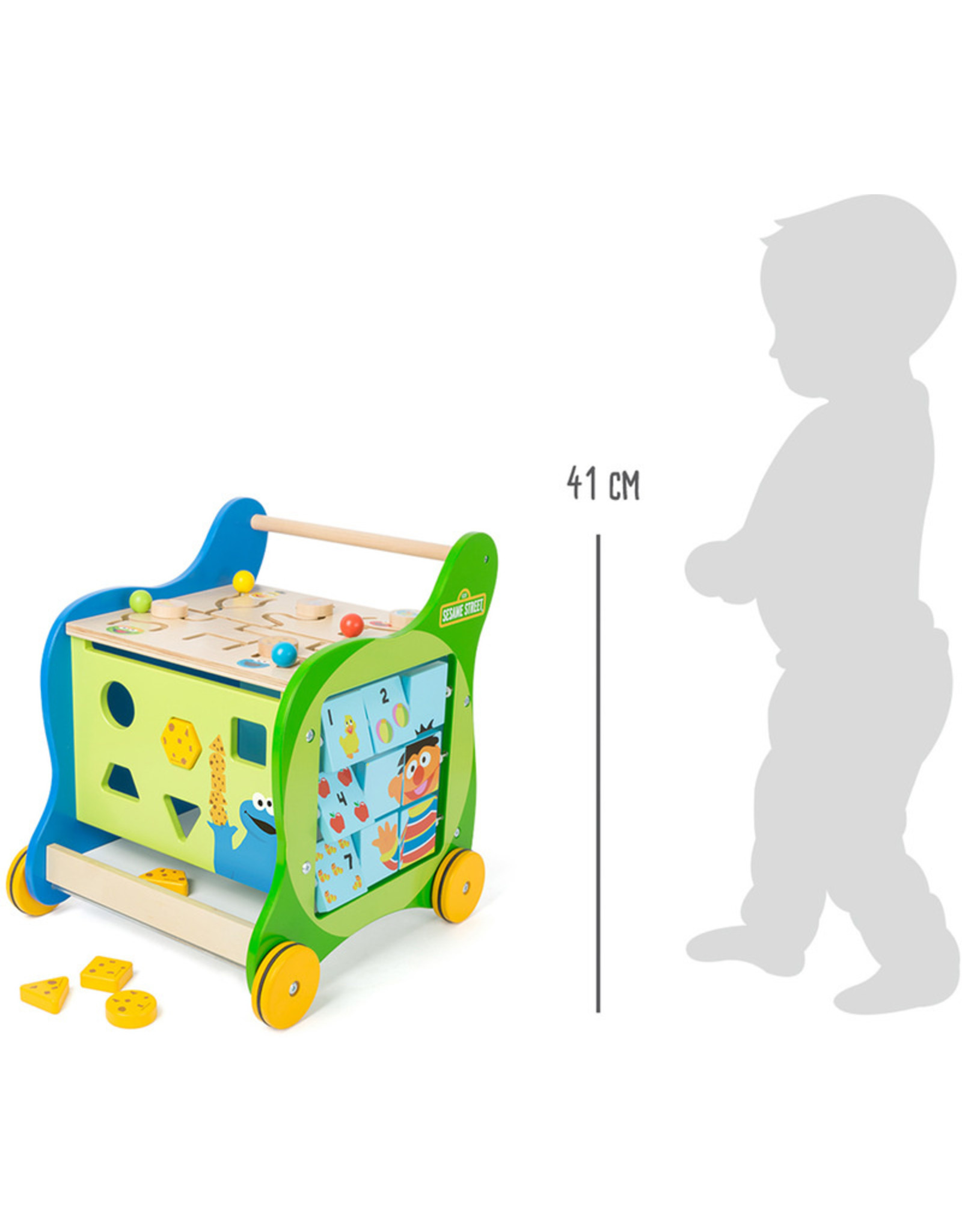 Small Foot Sesamstraat loopwagen