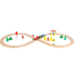 Small Foot Spoorweg set met trein en station