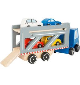 Small Foot Vrachtwagen met auto oplegger