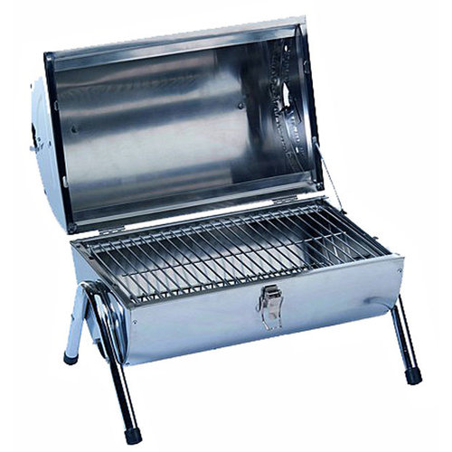 BBQ Collection Draagbare barbecue RVS dubbel uitgevoerd