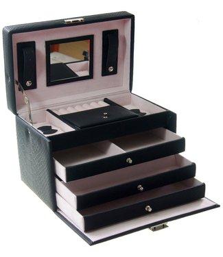 Déluxa Luxe sieradenbox met spiegel
