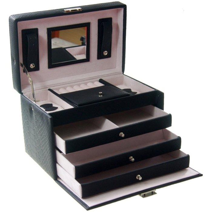 Luxe sieradenbox met spiegel