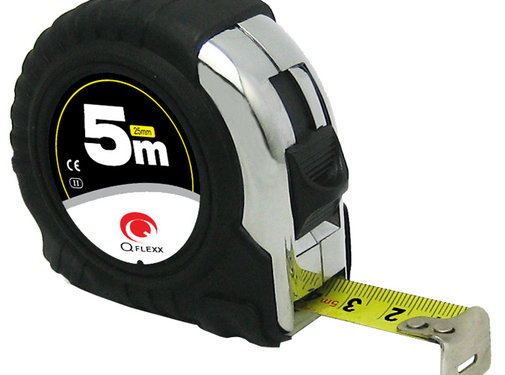 Q Flexx Stalen rolbandmaat 5 meter (25mm)