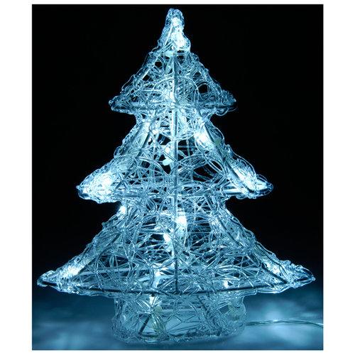 DecorativeLighting Acryl kerstboom  25cm met 16 LED's