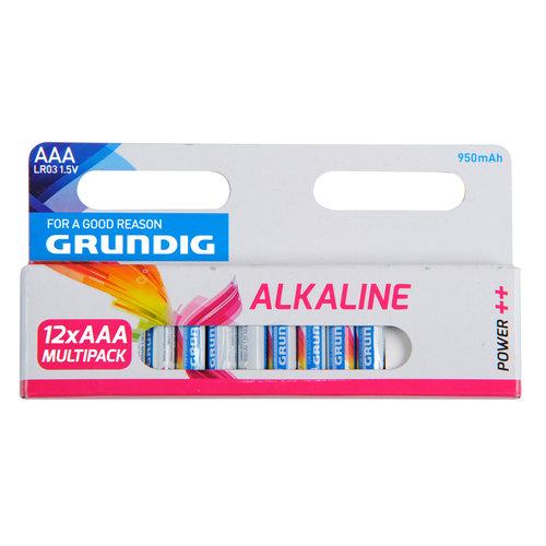 Grundig Alkaline batterijen AAA set van 12