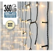 DecorativeLighting IJspegel verlichting 360 LED's 12 meter warm wit