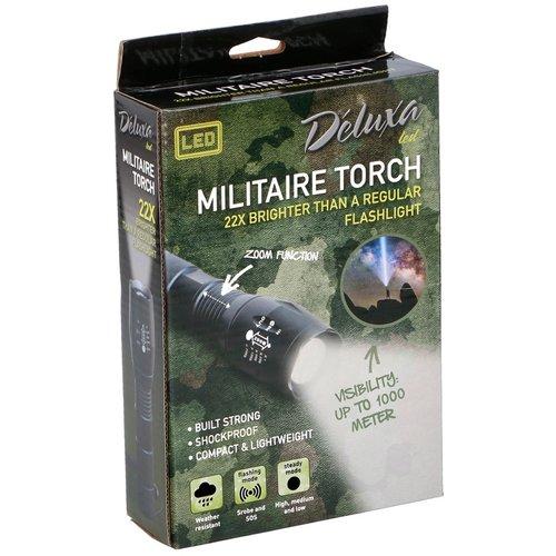 Déluxa Militaire LED zaklamp met zoomfunktie