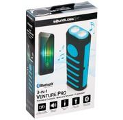 Soundlogic Powerbank met zaklamp en speaker blauw