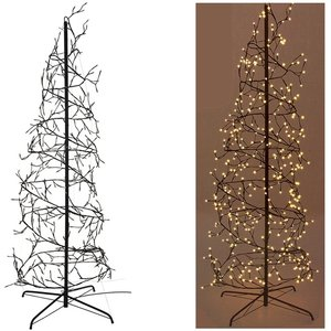 Home&Style Decoration Kerstboom spiraal 180cm - 432 LED - warm wit