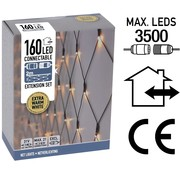 DecorativeLighting Koppelbare Netverlichting - 160 LED - 2m - warm wit