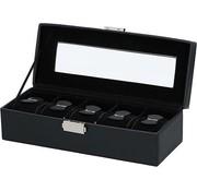 Déluxa Horlogebox Opbergbox - voor 5 horloges