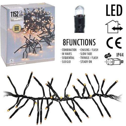 DecorativeLighting Clusterverlichting 1152 LED - 8.5m - extra warm wit
