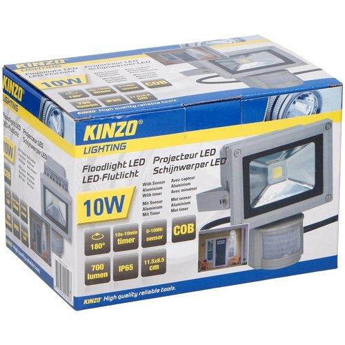 Kinzo Kinzo LED schijnwerper 10W met bewegingssensor