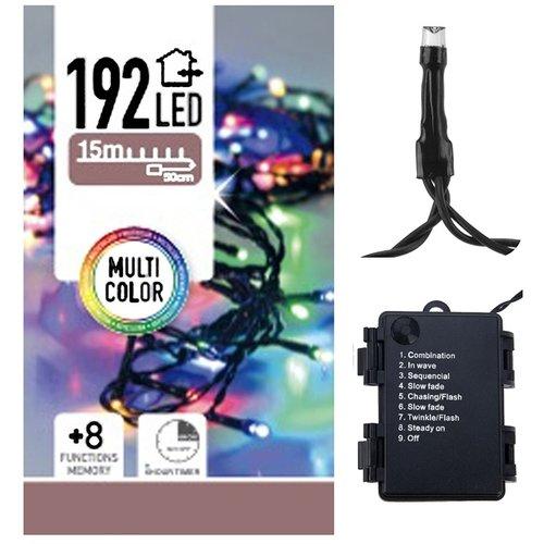 DecorativeLighting Kerstverlichting 192 LED's - multicolor - op batterij