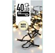 Kerstverlichting 40 LED's 3 meter warm wit